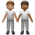 People Holding Hands: Medium Skin Tone, Medium-Dark Skin Tone on Apple iOS 13.3