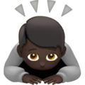 Person Bowing: Dark Skin Tone on Apple iOS 13.3