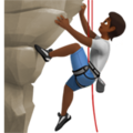 Person Climbing: Medium-Dark Skin Tone on Apple iOS 13.3