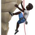Person Climbing: Dark Skin Tone on Apple iOS 13.3