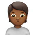 Person Frowning: Medium-Dark Skin Tone on Apple iOS 13.3