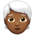 Person: Medium-Dark Skin Tone, White Hair on Apple iOS 13.3
