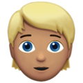 Person: Medium Skin Tone, Blond Hair on Apple iOS 13.3