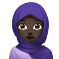 Woman With Headscarf: Dark Skin Tone on Apple iOS 13.3