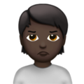 Person Pouting: Dark Skin Tone on Apple iOS 13.3