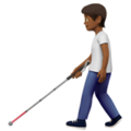 Person with White Cane: Medium-Dark Skin Tone on Apple iOS 13.3