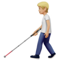 Person with White Cane: Medium-Light Skin Tone on Apple iOS 13.3
