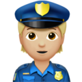 Police Officer: Medium-Light Skin Tone on Apple iOS 13.3