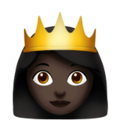 Princess: Dark Skin Tone on Apple iOS 13.3