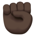 Raised Fist: Dark Skin Tone on Apple iOS 13.3