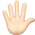 Hand With Fingers Splayed: Light Skin Tone on Apple iOS 13.3