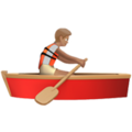 Person Rowing Boat: Medium Skin Tone on Apple iOS 13.3
