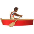 Person Rowing Boat: Medium-Dark Skin Tone on Apple iOS 13.3