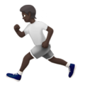 Person Running: Dark Skin Tone on Apple iOS 13.3