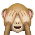 See-No-Evil Monkey on Apple iOS 13.3