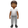 Person Standing: Medium-Dark Skin Tone on Apple iOS 13.3
