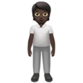 Person Standing: Dark Skin Tone on Apple iOS 13.3