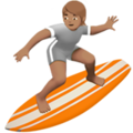 Person Surfing: Medium Skin Tone on Apple iOS 13.3