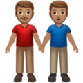 Men Holding Hands: Medium Skin Tone on Apple iOS 13.3