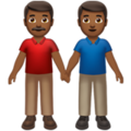 Men Holding Hands: Medium-Dark Skin Tone on Apple iOS 13.3