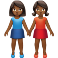 Women Holding Hands: Medium-Dark Skin Tone on Apple iOS 13.3