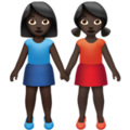 Women Holding Hands: Dark Skin Tone on Apple iOS 13.3