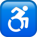 Wheelchair Symbol on Apple iOS 13.3