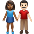 Woman and Man Holding Hands: Medium-Dark Skin Tone, Light Skin Tone on Apple iOS 13.3