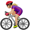 Woman Biking: Medium-Light Skin Tone on Apple iOS 13.3