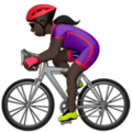 Woman Biking: Dark Skin Tone on Apple iOS 13.3