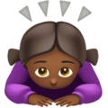 Woman Bowing: Medium-Dark Skin Tone on Apple iOS 13.3
