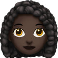 Woman: Dark Skin Tone, Curly Hair on Apple iOS 13.3