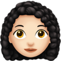 Woman: Light Skin Tone, Curly Hair on Apple iOS 13.3