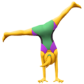 Woman Cartwheeling on Apple iOS 13.3