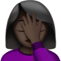 Woman Facepalming: Dark Skin Tone on Apple iOS 13.3