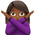 Woman Gesturing No: Medium-Dark Skin Tone on Apple iOS 13.3