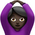 Woman Gesturing OK: Dark Skin Tone on Apple iOS 13.3
