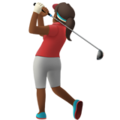 Woman Golfing: Medium-Dark Skin Tone on Apple iOS 13.3