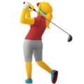 Woman Golfing on Apple iOS 13.3