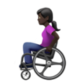 Woman in Manual Wheelchair: Dark Skin Tone on Apple iOS 13.3