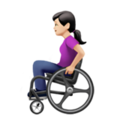 Woman in Manual Wheelchair: Light Skin Tone on Apple iOS 13.3