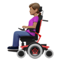 Woman in Motorized Wheelchair: Medium Skin Tone on Apple iOS 13.3