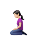Woman Kneeling: Light Skin Tone on Apple iOS 13.3