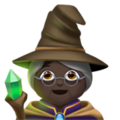 Woman Mage: Dark Skin Tone on Apple iOS 13.3