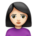 Woman Pouting: Light Skin Tone on Apple iOS 13.3