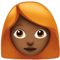 Woman: Medium-Dark Skin Tone, Red Hair on Apple iOS 13.3