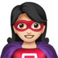 Woman Superhero: Light Skin Tone on Apple iOS 13.3