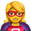 🦸‍♀️ Woman Superhero Emoji