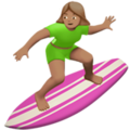 Woman Surfing: Medium Skin Tone on Apple iOS 13.3