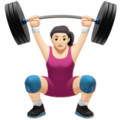 Woman Lifting Weights: Light Skin Tone on Apple iOS 13.3